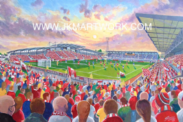 racecourse ground on matchday print